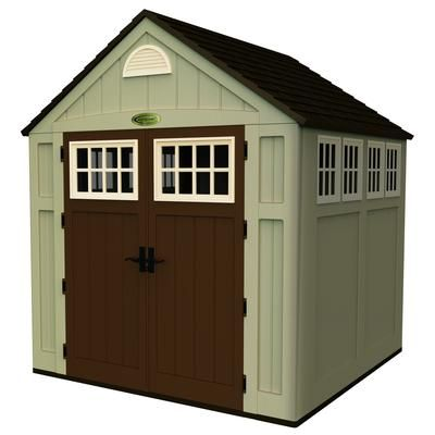 Suncast Blow Molded Storage Shed 7 Feet x 7 Feet BMS7775