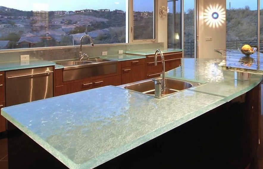 Glas Arbeitsplatte CLEAN & CONTEMPORARY Think Glass | Küche ...