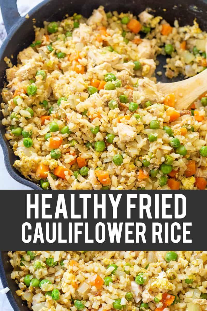 Chicken Fried Cauliflower Rice Recipe in 2020 Fried