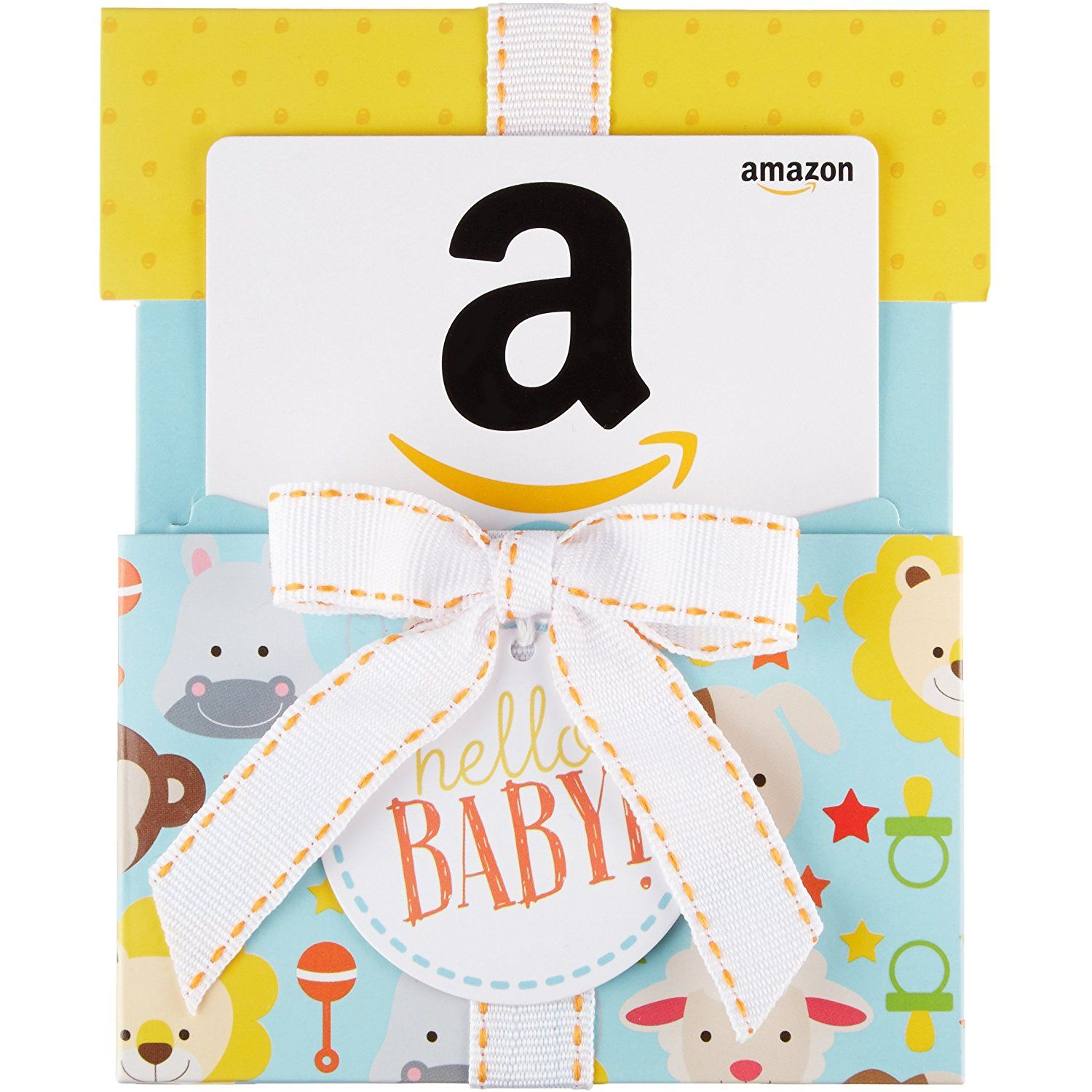 Amazon.com Gift Card In A Hello Baby Reveal (Classic White
