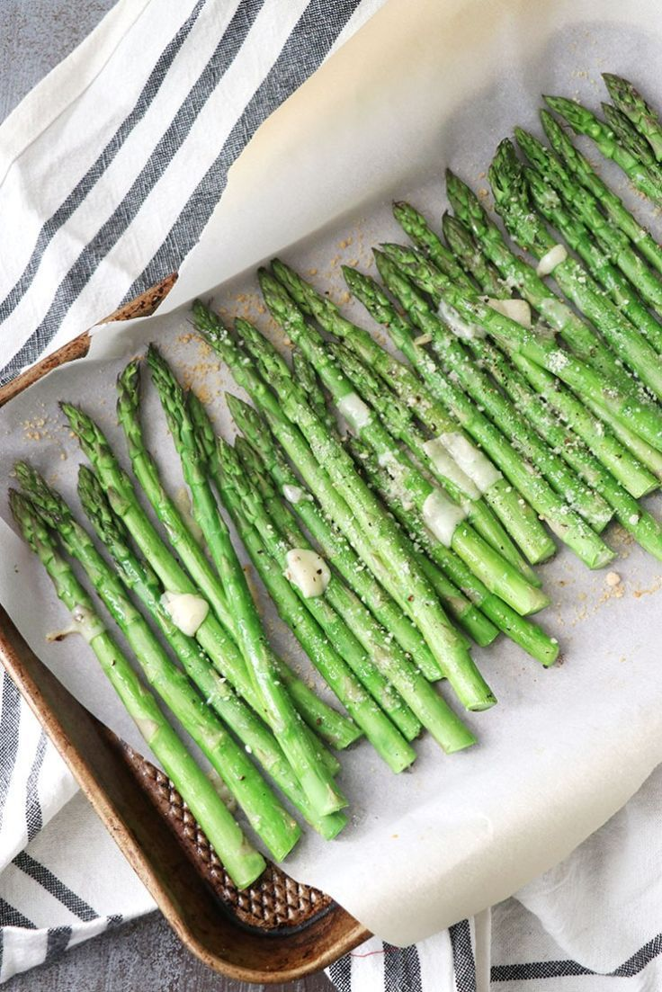 Parmesan Roasted Asparagus Low Carb Side Keto