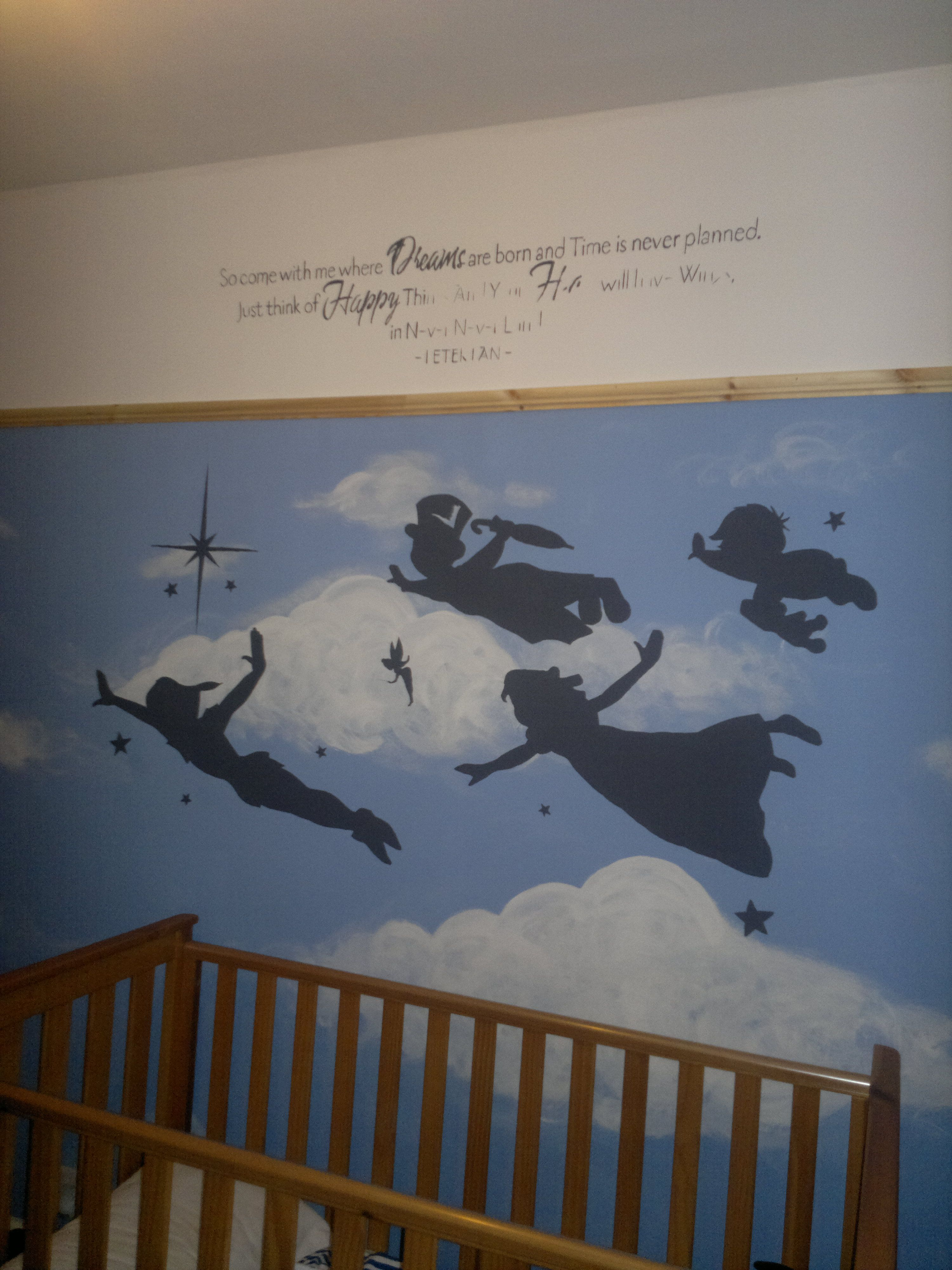 Archie S Nearly Finished Peter Pan Painted Nursery Room With