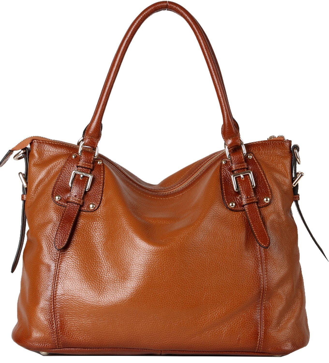 Shoulder this right off the runway. // Heshe #Leather #Vintage #Tote // www.outlet77.com