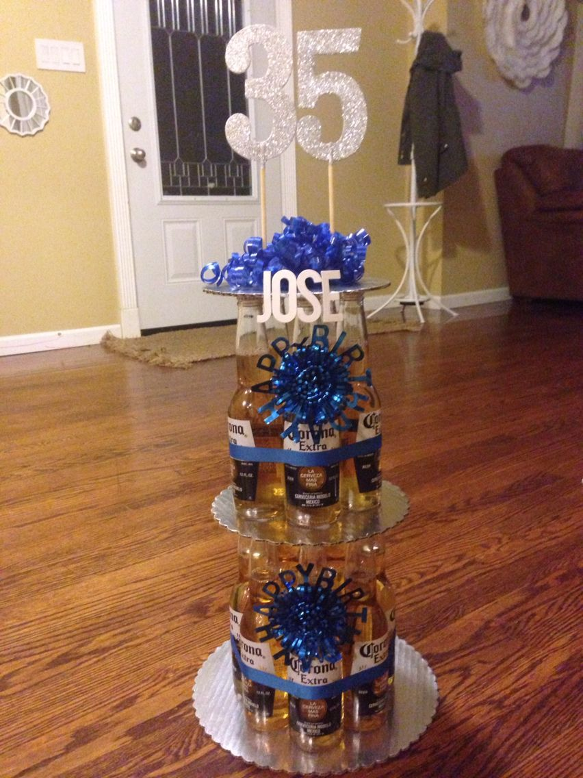 Corona beer bottle birthday cake. I bought a 12 pack and 3