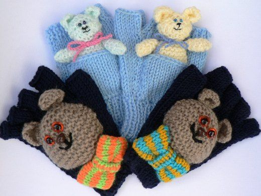 Teddy Mitts & Gloves knitting project by Lorna M | LoveKnitting
