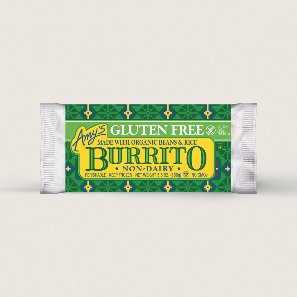 Amy S Kitchen Amy S Gluten Free Non Dairy Burrito Burritos Gluten Free Dairy