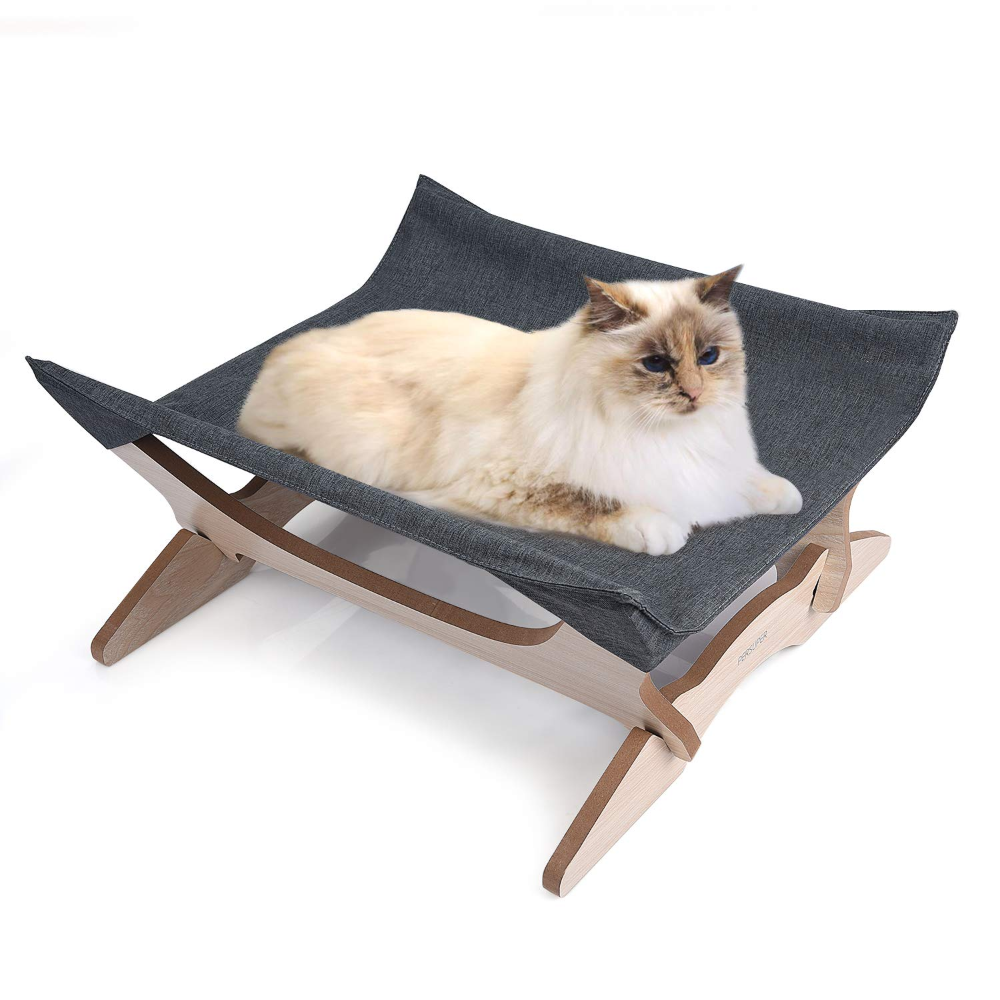Amazon Com Elevated Cat Beds Cat Hammock Pet Cots Small Dog Beds Wooden Detachable Wooden Frame Square Hanging Cat Hammock Dog Beds For Small Dogs Cat Towers