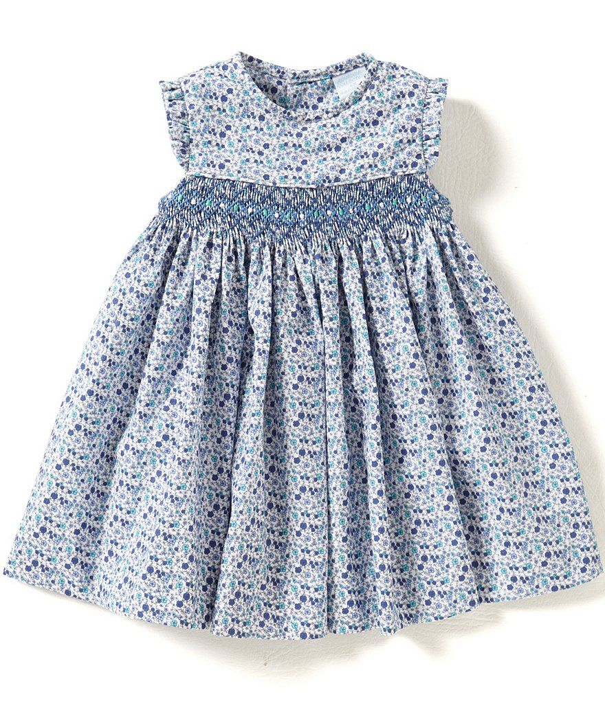 746b93f622 Edgehill Collection Baby Girls 3-24 Months Dotted Smocked Dress ...