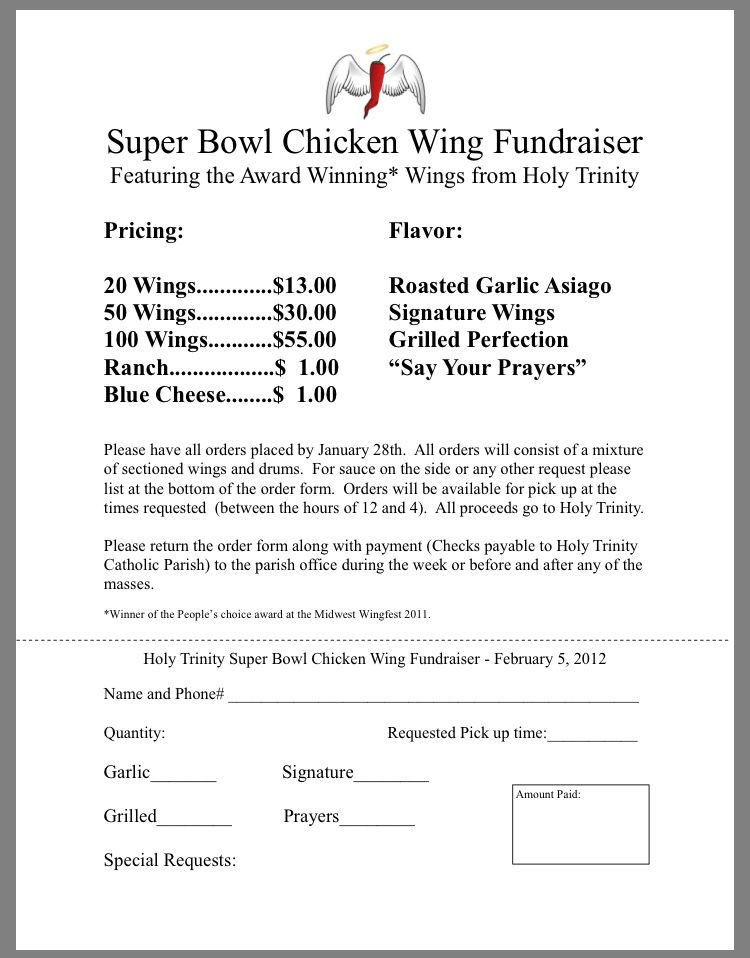 Super Bowl Chicken Wings fundraiser Allenstown PTO - how to write references in a resume