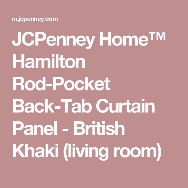 JCPenney Home™ Hamilton Rod-Pocket Back-Tab Curtain Panel - British ...