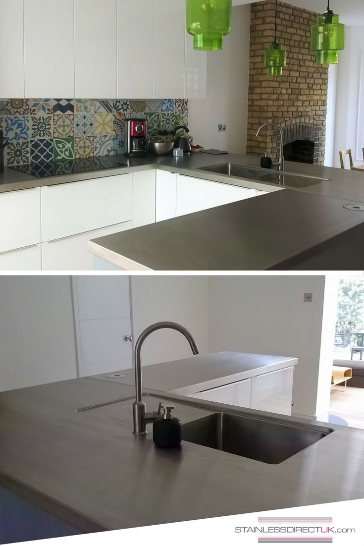 This Stainless Steel Worktop Makes A Striking Addition To Stef S