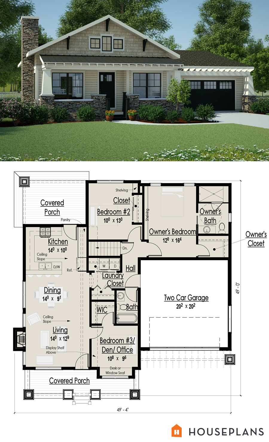 Architectural plans for a small craftsman bungalow sft