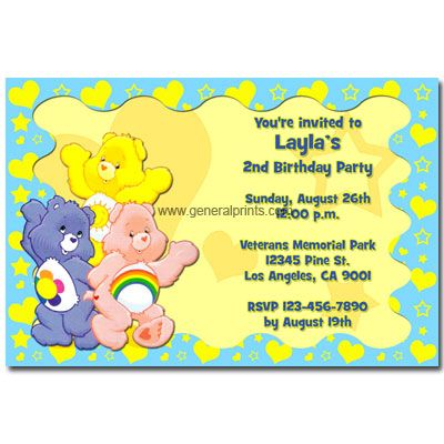 care bear invitation template Free care bear baby shower - baby shower invitations templates free