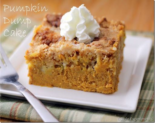 Pumpkin Dump Cake With Purée Evaporated Milk Eggs Sugar Salt