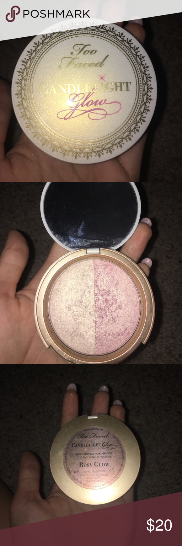 Too Faced Candlelight Glow in the shade Rosy Glow
