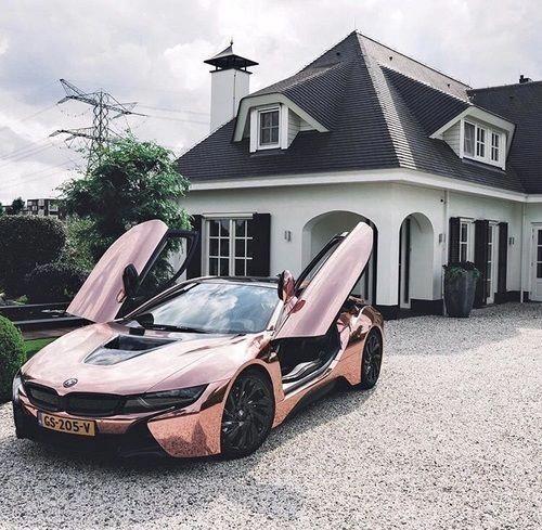 Pink Metallic BMW i8 #FerrariPink #bmw