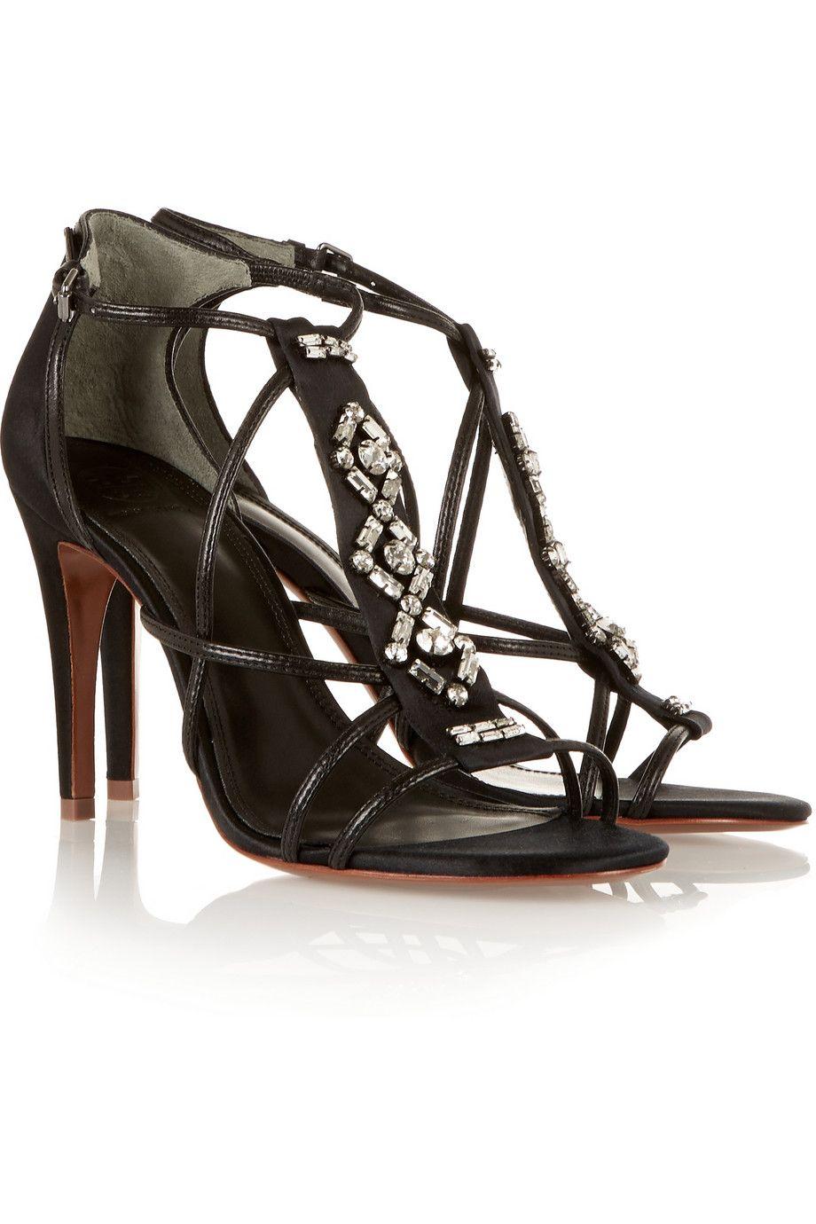 Tory BurchGeralyn crystal-embellished satin sandals
