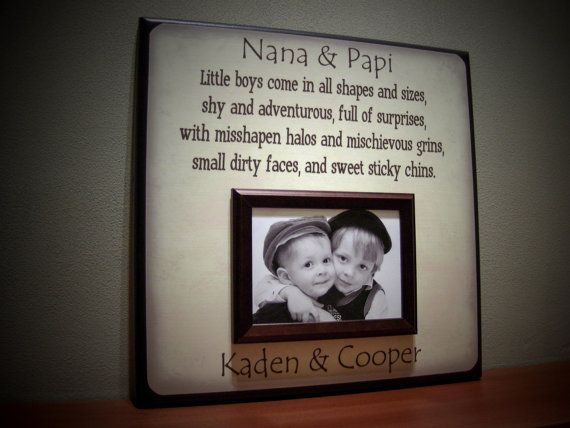 Grandparents Picture Frame, Little Boys Come in All Shapes and ...