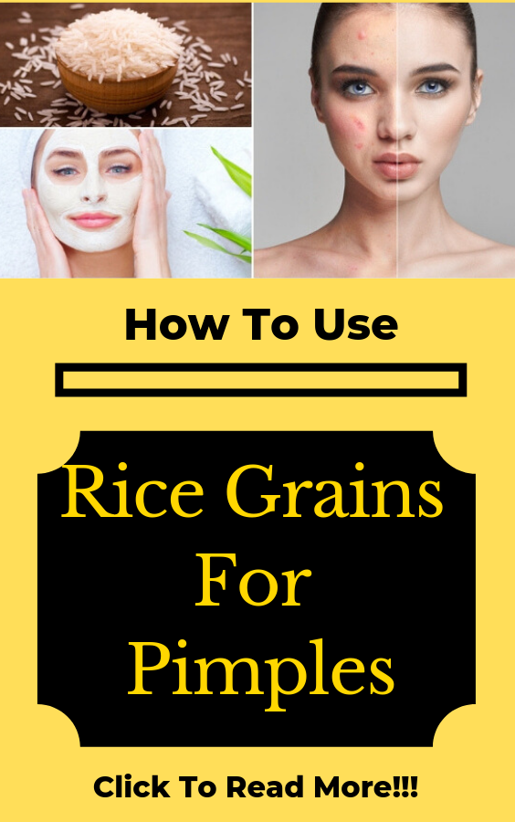 How To Use Rice Grains For Pimples