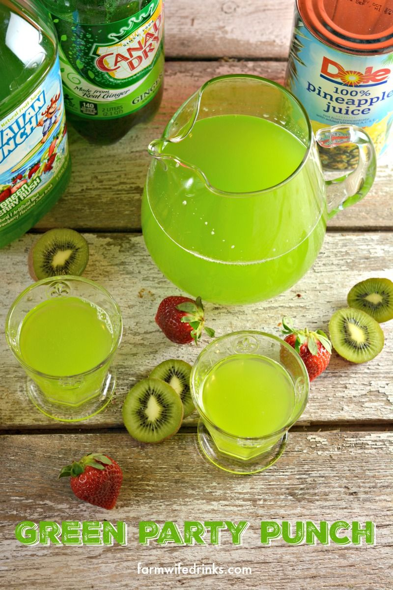 Check out Green Punch. It's so easy to make! | Green punch, Themed ...