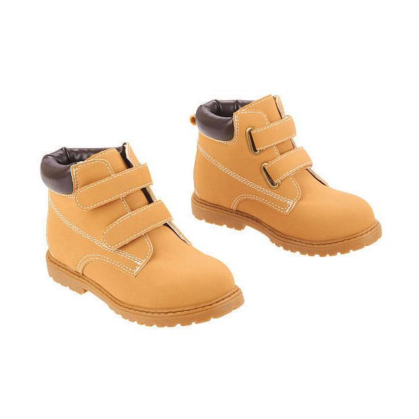 Koala Kids Boys Tan Hard Sole Touch Closure Work Boots Babies R Us 795 Php Liked On Polyvore Featuring Baby And Baby Boy Work Boots Koala Kids Baby Shoes