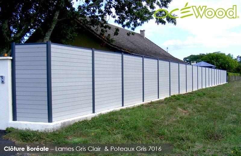 Océwood® - Clôture Composite Boréale Gris Clair - wwwocewoodfr