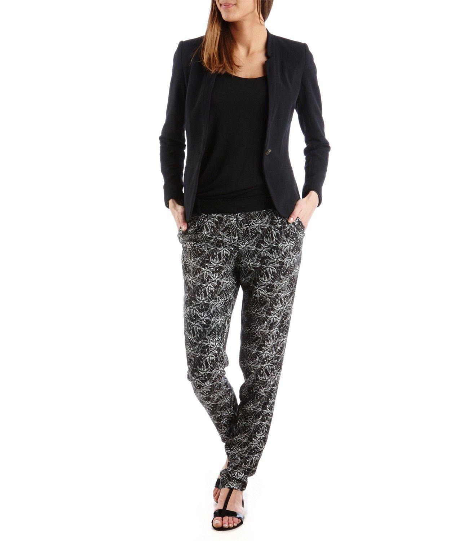 pantalon fluide femme bleu marine fm92 jornalagora. Black Bedroom Furniture Sets. Home Design Ideas