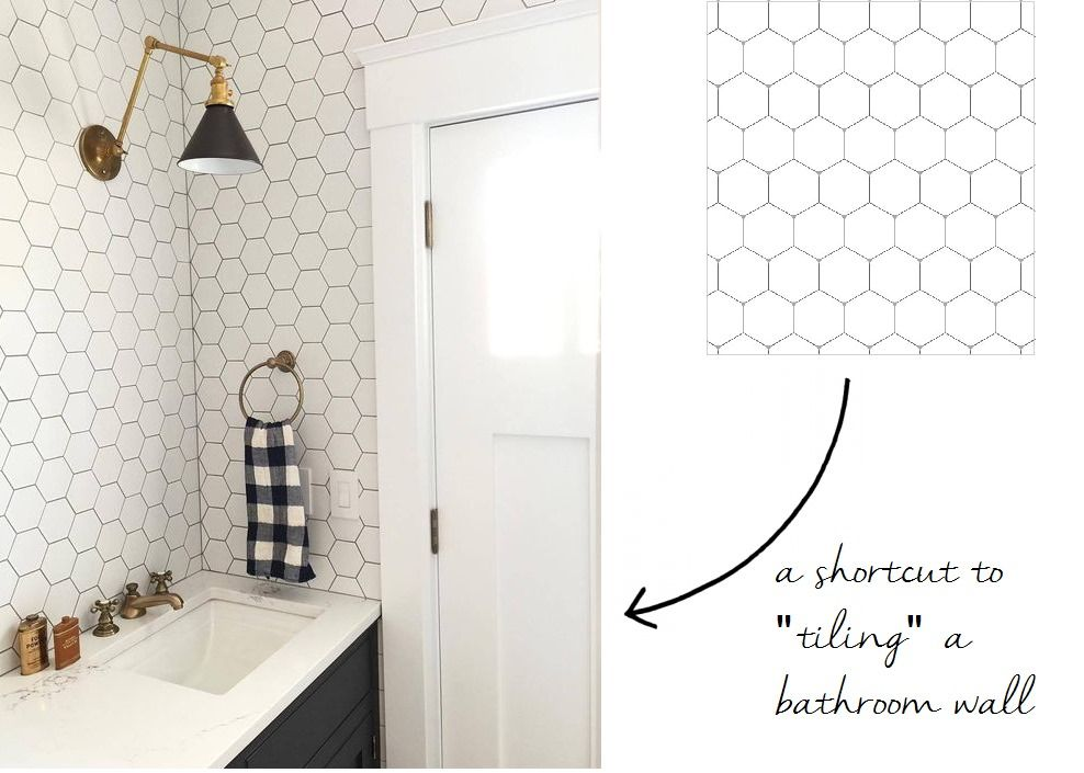 12 Peel & Stick Wallpapers That Don't Look Like Wallpaper At All | Interiors | Stick tile ...