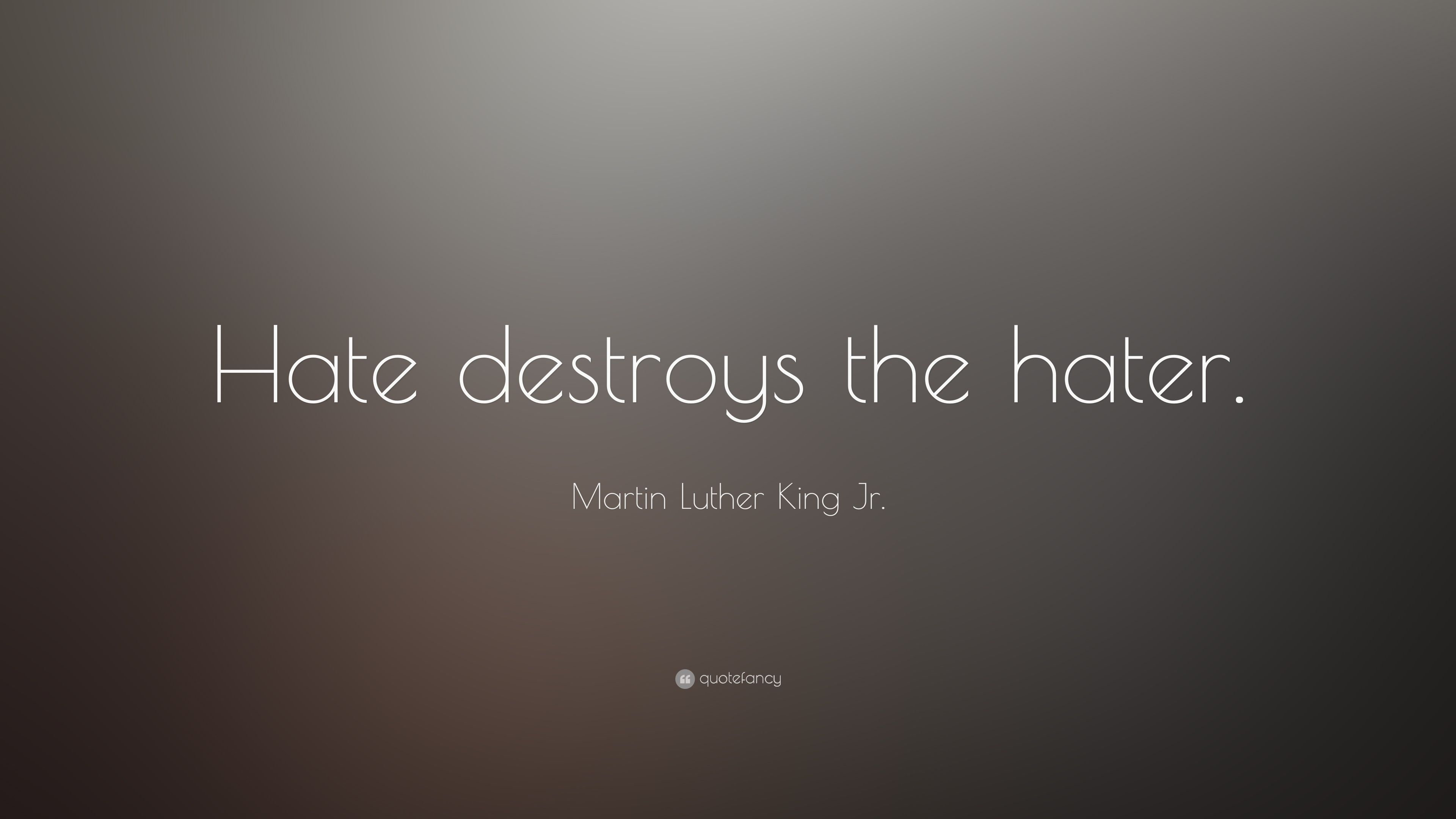 Martin Luther King Jr Quote Hate Destroys The Hater 3