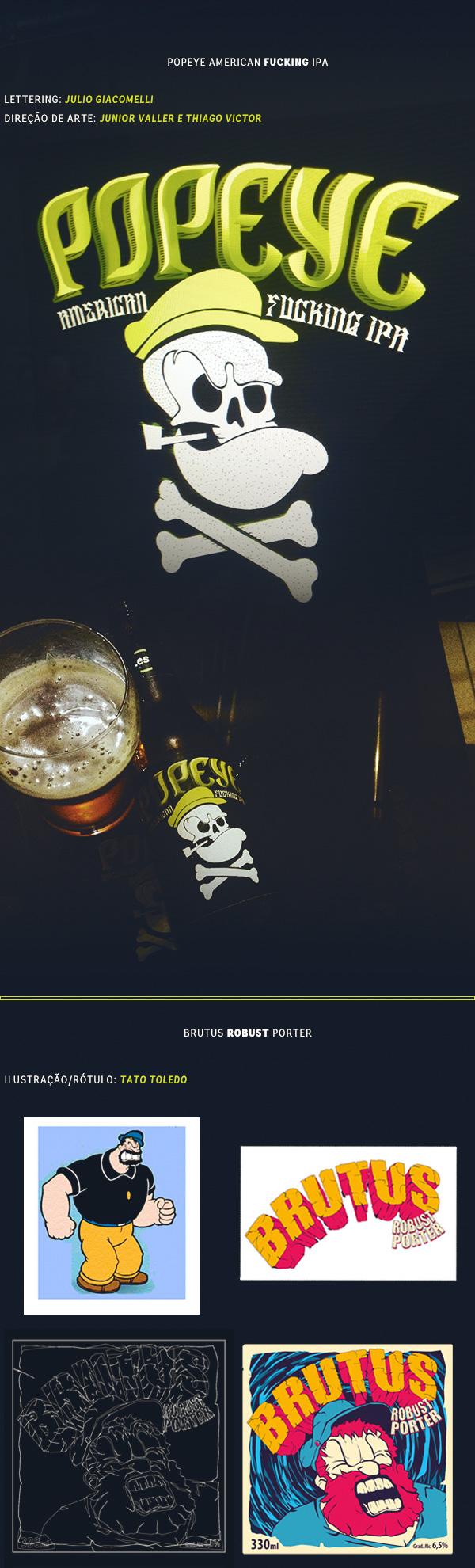 Cervejas da Espinafre by Thiago Victor, via Behance