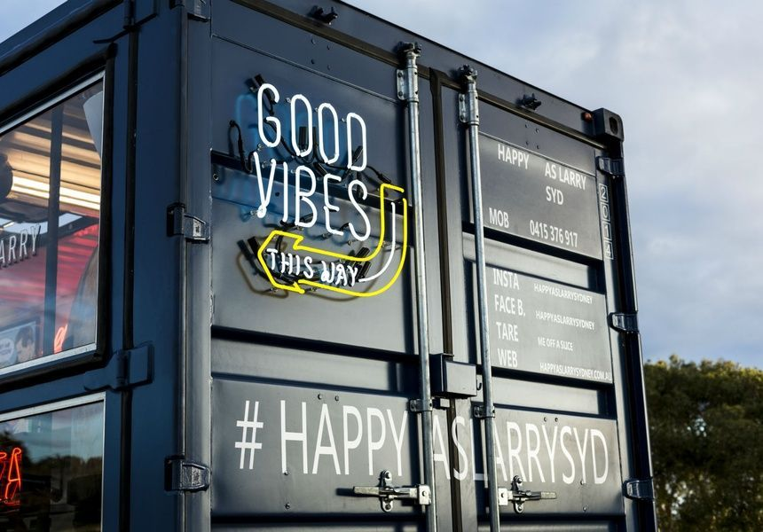 Pizzas to Make You Happy as Larry Pizza food truck, Food
