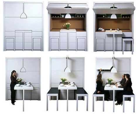 Superbe Incredible Fold Out Kitchenette Looks More Like A 2D Line Drawing Than 3D  Reality.