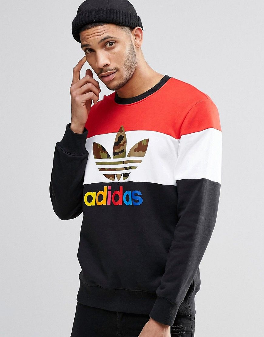 itasca crew sweatshirt ay7712 red marki Adidas originals
