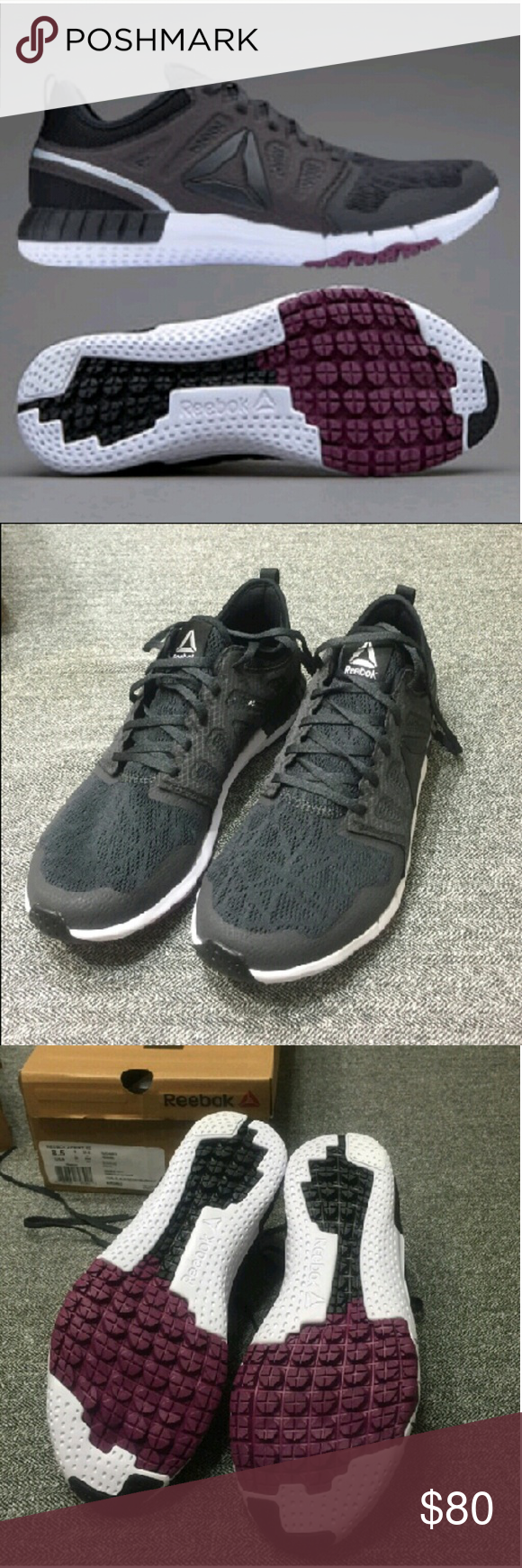 REEBOK ZPRINT 3D Running Shoes NIB!!!! Brand new running shoes. Color:coal/black/berry/silver/white. Reebok Shoes Athletic Shoes