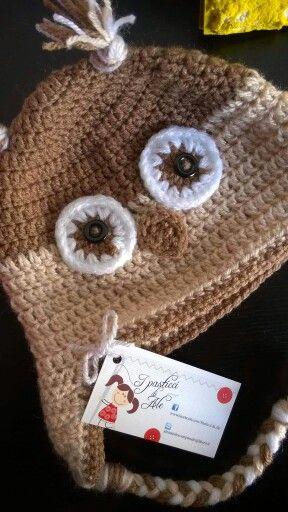 Owl crochet hat / cappello gufo uncinetto