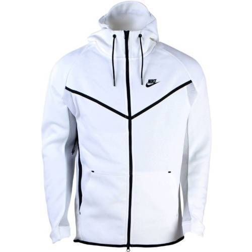 MEN'S NIKE TECH FLEECE WINDRUNNER HOODIE WHITENAVY 727340