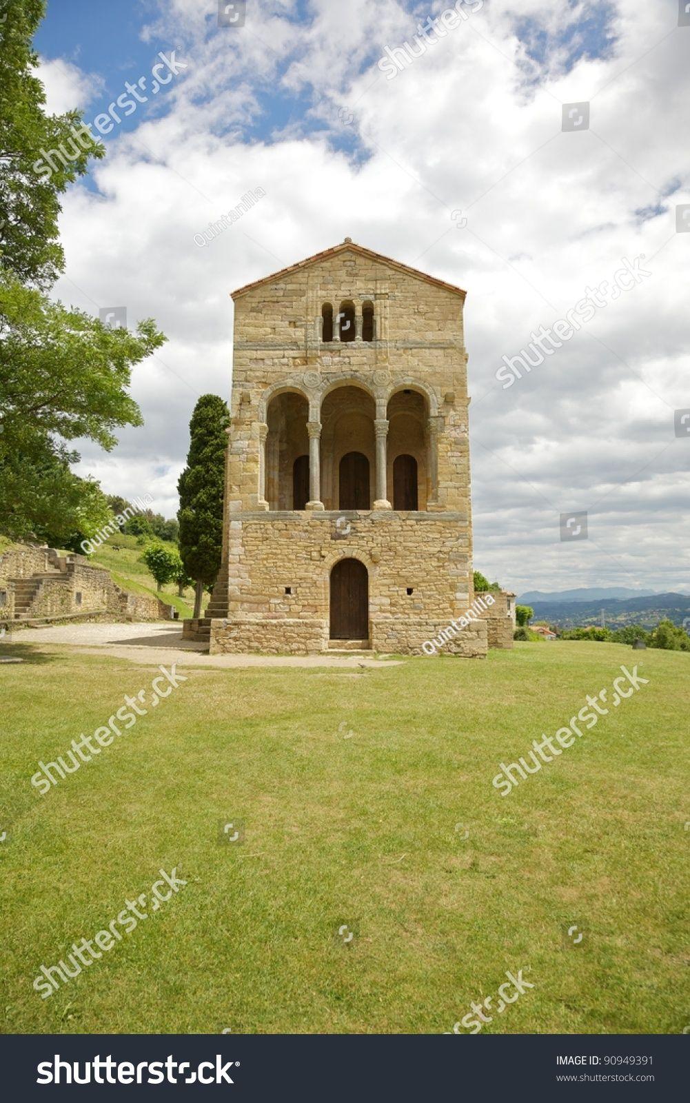 IX century Santa Maria del Naranco church near Oviedo city