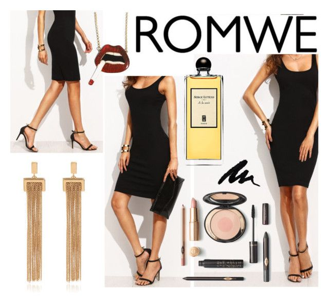 """""""Romwe LBD"""" by no-face-fashion ❤ liked on Polyvore featuring Chloé and Serge Lutens"""