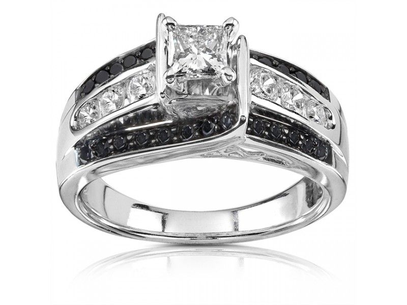 Glamour And Cheap Black Diamond Wedding Ring Sets For Great Wedding