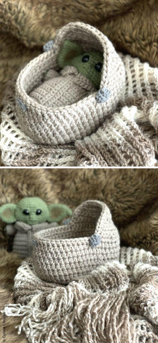 Photo of Baby Yoda Crib Free Crochet Pattern