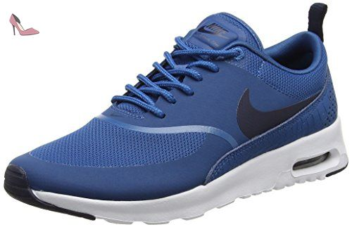 new style f98bd ad066 Nike Air Max Thea, Chaussures de Running Femme, Bleu (Industrial  BlueObsidian