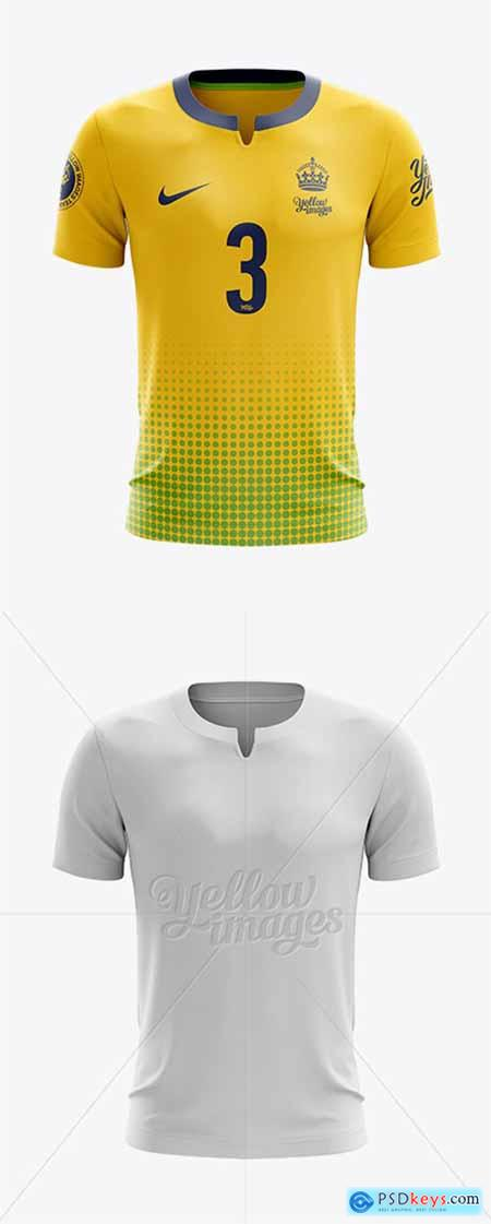 Download Soccer T Shirt Mockup Front View 11860
