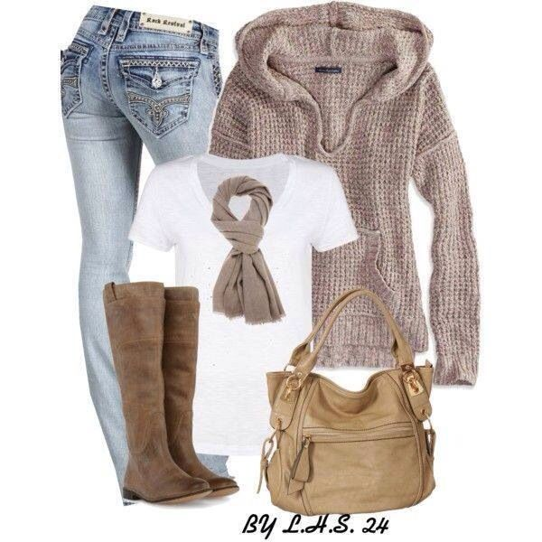 Cozy comfy winter outfit
