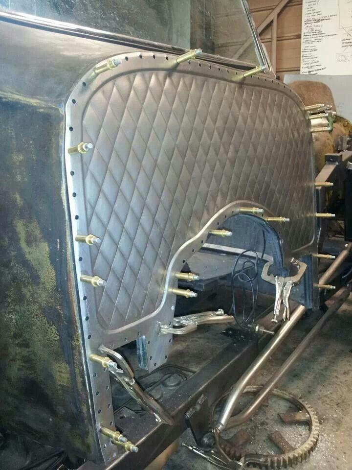 Bead Rolled Firewall Metal Fab Autos Carros Y Motos