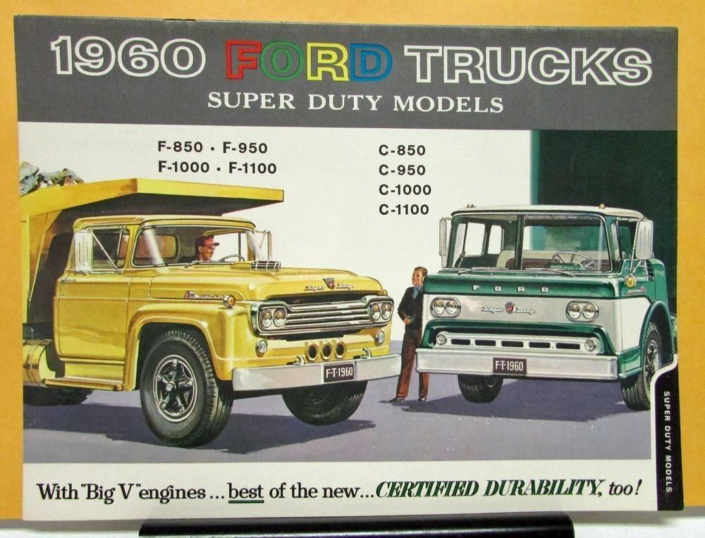 1960 ford truck model f c 850 950 1000 1100 super duty sales 1960 ford truck model f c 850 950 1000 1100 super duty sales brochure ebay motors fandeluxe Images