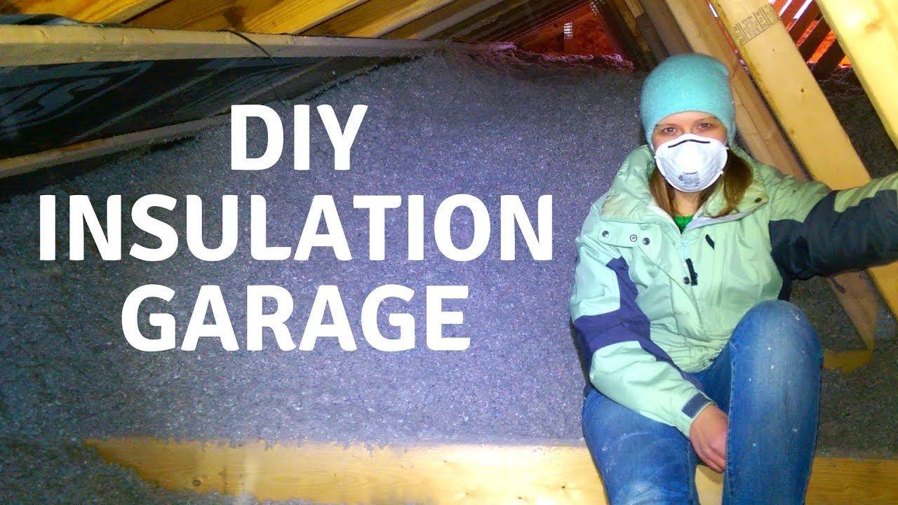 Insulating Garage, DIY, Cellulose Attic and Walls Garage