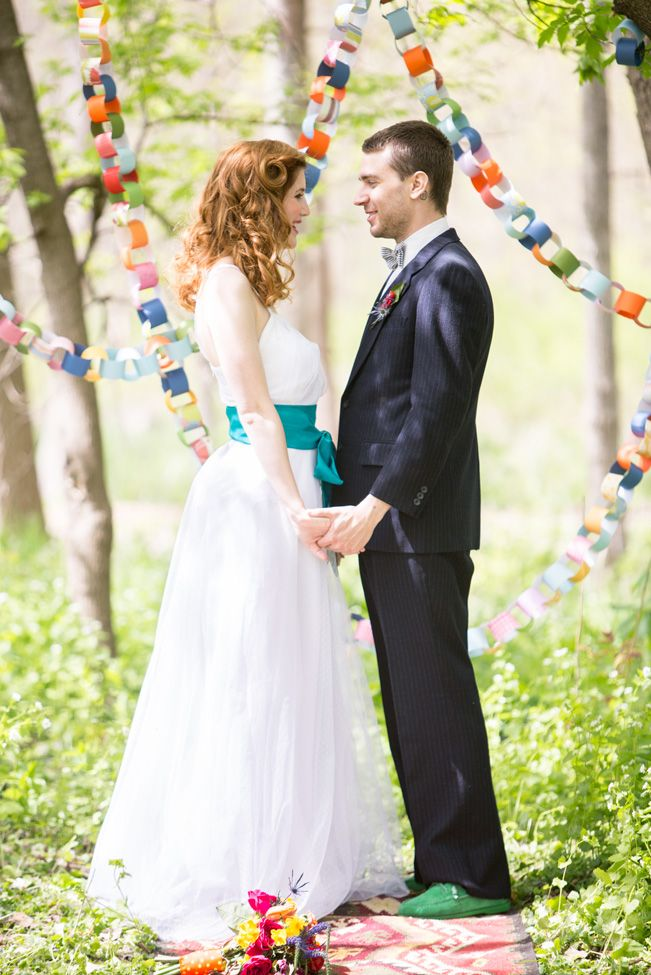 Playful Festival of Colors Wedding Inspiration - see more at http://fabyoubliss.com