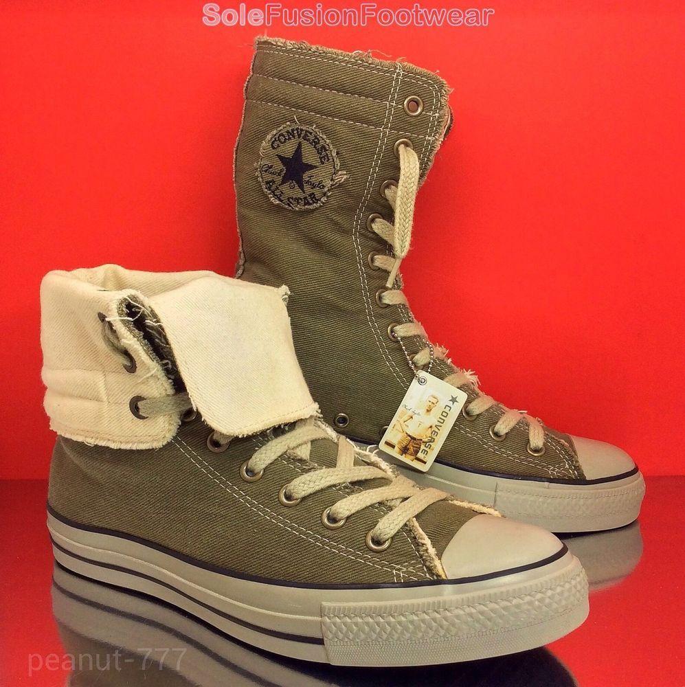 36c52be25e59 Mens Converse All Star X HI Combat Boots sz 9 Khaki VTG Chuck Taylor US11  EU42.5