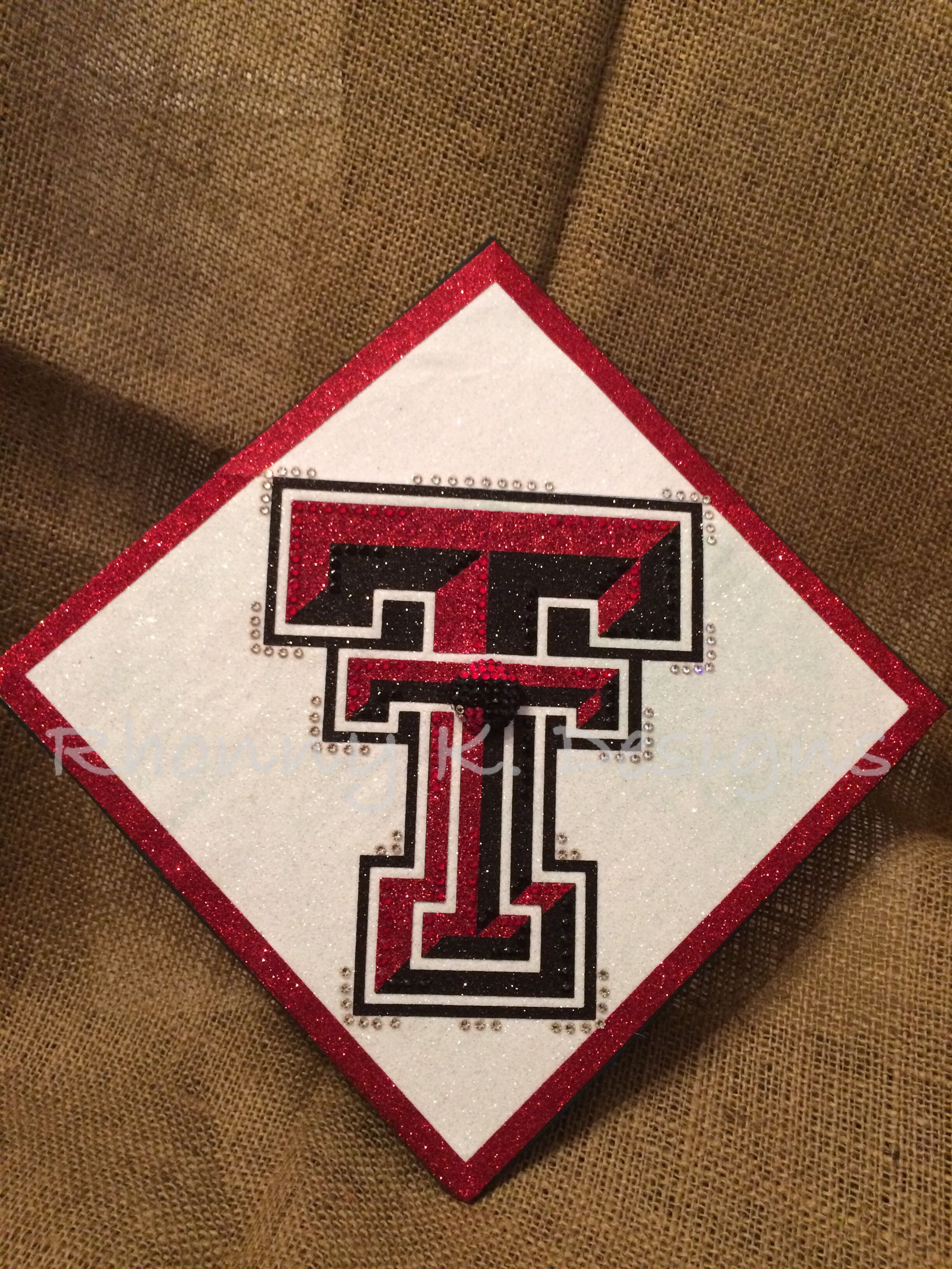 differently ac5de 70d5b Texas Tech custom decorated Mortarboard by Rhonny K. Designs. Mortarboard,  graduation cap, bling, Swarovski, Texas Tech, Red Raiders, Seniors  Rhonnyk.com ...