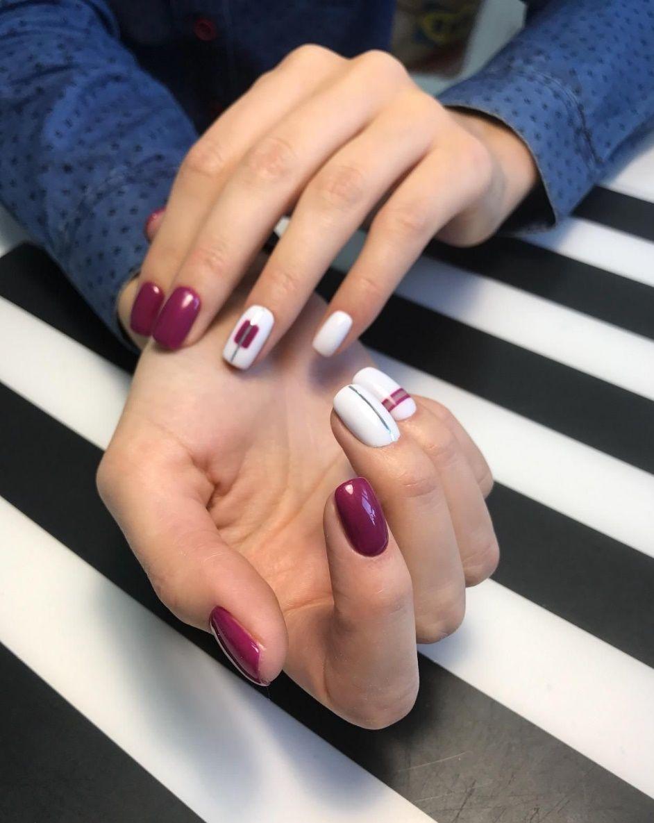 Модный маникюр на короткие ногти в 2018 году гель лаком ...
